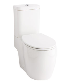 Essential Eternity Square Open Back-To-Wall WC With Cistern And Seat