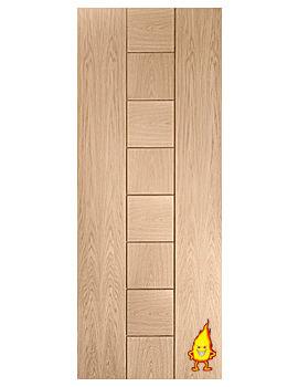 Related XL Internal Messina Oak Fire Door - INTOMES27-FD