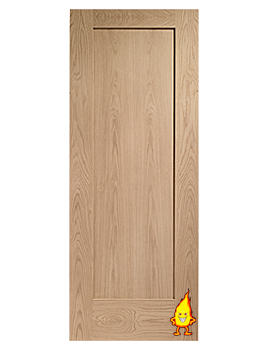 Related XL Internal Pattern 10 Oak Fire Door - INTOSHAP1027-FD