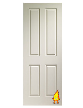 Related XL Internal Victorian 4 Panel White Moulded Fire Door - WMVIC27FD