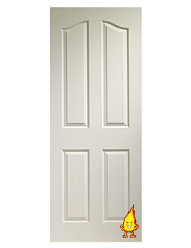Related XL Internal Sentinel 4 Panel White Moulded Fire Door - WM4P27FD