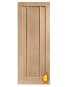 Related XL Internal Worcester 3 Panel Oak Fire Door - INTOWOR27-FD