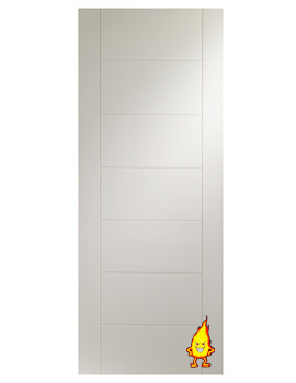 Related XL Internal Palermo White Primed Fire Door - WPPAL27-FD