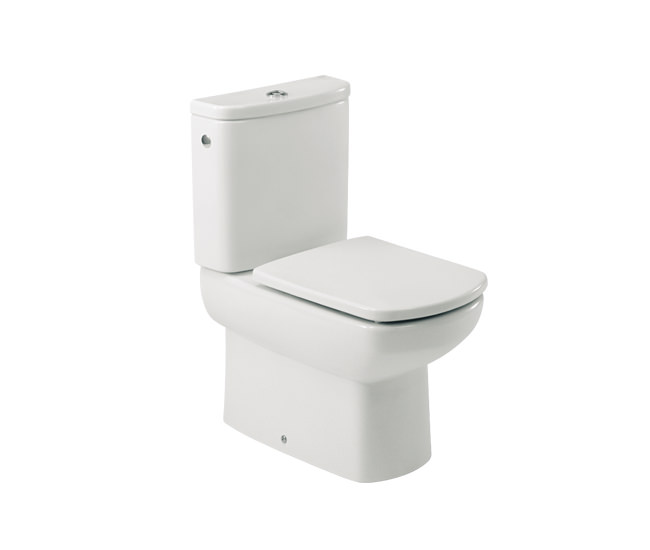 Roca senso compact wc pan with cistern and toilet seat for Roca dama toilet