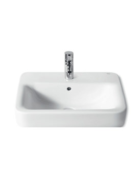 Related Roca Senso Square 1 Tap Hole Basin 550 x 440mm - 32751C000