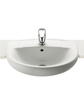 Laura Semi Recessed 1 Tap Hole Basin 510mm Wide - 32739E000