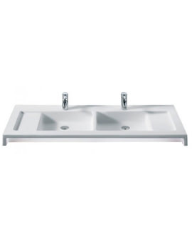 Stratum Wall Hung Double Basin 1300mm Wide - 327630000