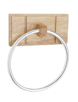 Croydex Maine Natural Finish Ring for Towels - WA971576
