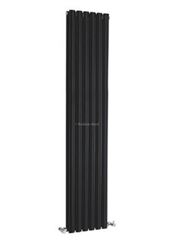 Revive Double Panel Black Radiator 354x1800mm - HLB77