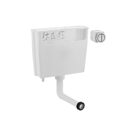 Large Image of Geberit Pneumatic Operated Concealed Dual Flush Cistern - 109.720.00.1