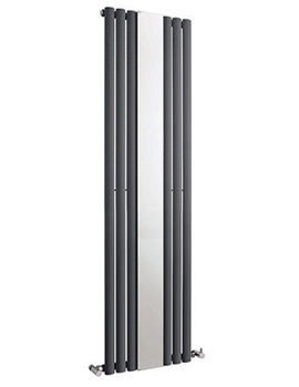 Hudson Reed Revive 499 x 1800mm Single Panel Radiator With Mirror