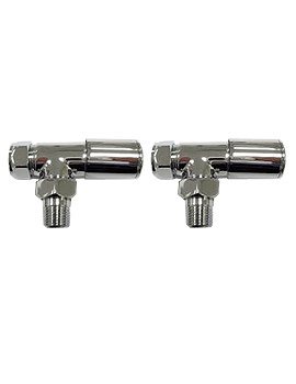 Essential Deluxe Angled Radiator Valve Pair 15mm - 148997