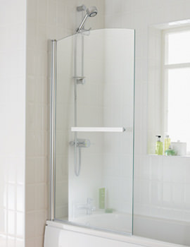 Twilight Bath Screen With Towel Rail 800x1400mm - EB302