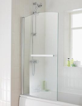 Essential Twilight Bath Screen With Towel Rail 800x1400mm - EB302