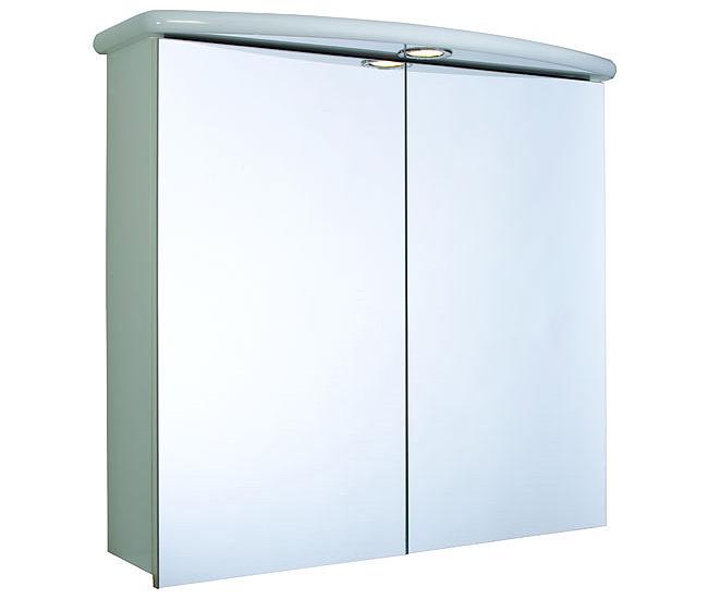 Croydex thames double door illuminated mirror cabinet for Bathroom cabinets 250mm