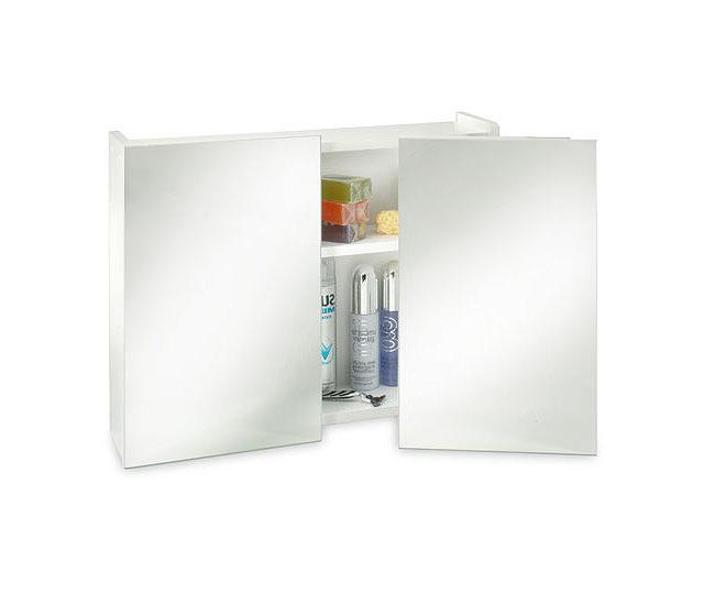 image of croydex swivel double door wooden mirror cabinet wc301922