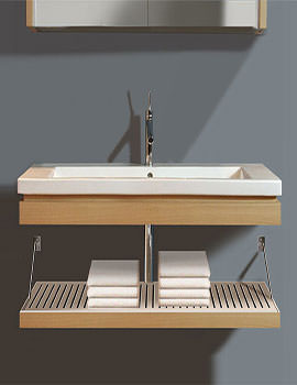 Duravit 2nd Floor Rosewood Finish Trim And Shelf With 800mm Basin