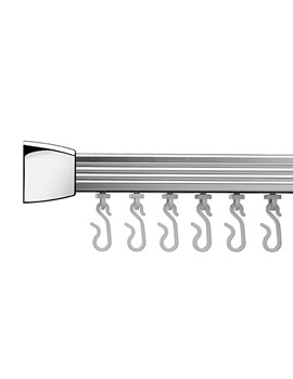 Professional Profile 800 Standard Curtain Rail 760x1675 Chrome - AD200441