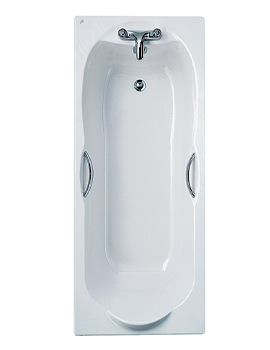 Ideal Standard Alto Water Saving Idealform Bath With Grips 1700 x 700mm