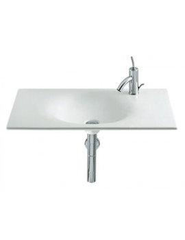 Kalahari White Wall Hung Basin 650mm Wide - 327874000