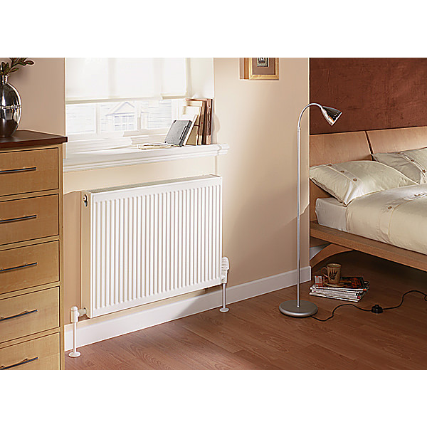Large Image of Quinn Compact Double Panel Convector Radiator 600 x 600 22K - Q22606KD