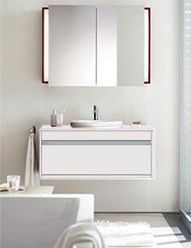 Starck 1 Washbowl 530mm On Ketho Vanity Unit 1000mm - KT 6695 - 040853