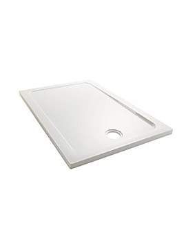 Flight Low Rectangle Shower Tray 1000 x 800mm - 1.1697.007.WH