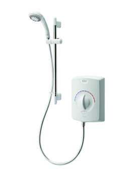 Aqualisa Aquastyle Electric Shower 9.5kW White And Chrome - ASE9521