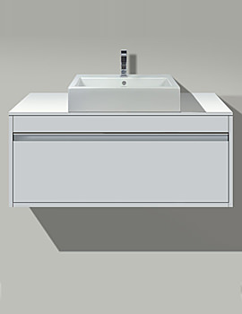 Image of Starck 3 Washbasin 560mm On Ketho Vanity Unit 1200mm | KT 6796 | 030256