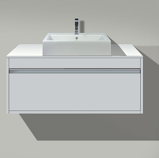 Large Image of Starck 3 Washbasin 560mm On Ketho Vanity Unit 1200mm - KT 6796 - 030256