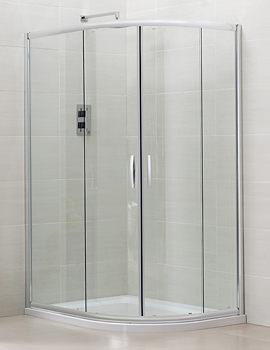 Image of April Identiti2 Offset Double Door Shower Quadrant 1000 x 800mm Silver