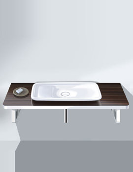 Image of Duravit Puravida Basin 700mm on Console 800mm White - 037070 - PV 071C