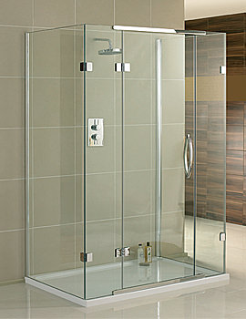 Aquadart Inline 3 Sided Hinged Door Shower Enclosure 1200 x 800mm