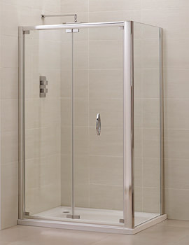Related April Identiti2 Extended Bifold Shower Door 1200mm - AP9454S