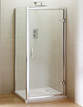 April Identiti2 Hinge Shower Door Semi Frame-less 900mm - AP9362S