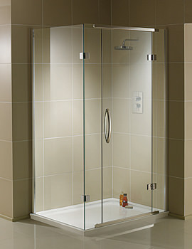 Aquadart Inline 2 Sided Hinged Door Shower Enclosure 1200 x 900mm