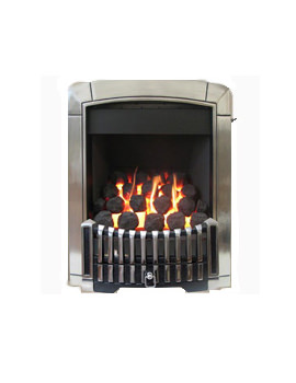 Caress Remote Control Contemporary HE Inset Gas Fire Chrome - FHEC3RRN