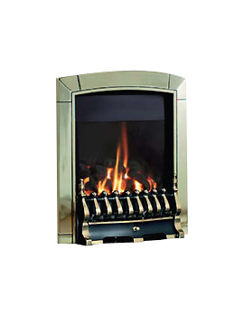 Caress Manual Control Traditional HE Inset Gas Fire Brass - FHEC11MN