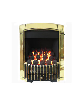 Flavel Caress Contemporary Slide Control Inset Gas Fire Brass FICC45SN