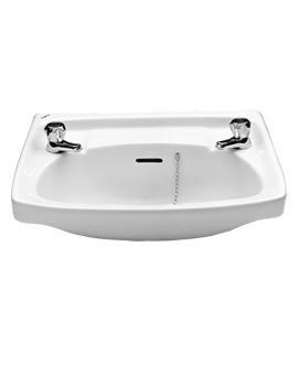 Related Twyford Classic 560 x 415mm 2 Tap Hole Washbasin - CC4212WH