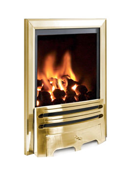 Flavel Kenilworth Manual Control HE Inset Gas Fire Brass - FHKC1SMN2