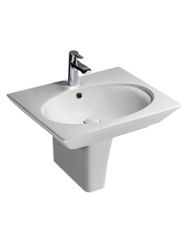 Opulence Hers Basin With Half Pedestal And Click Clack Waste 580mm