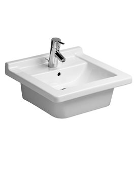 Starck 3 Vanity Countertop Basin With Overflow 480mm - 0303480022
