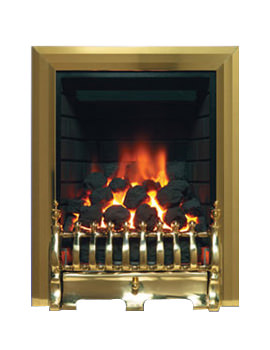 Be Modern Classic Traditional Slimline Inset Gas Fire Brass - 8117
