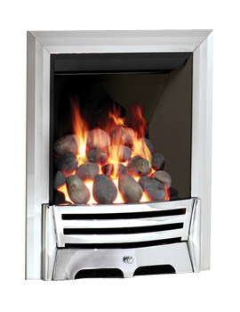 Be Modern Mayfair Full Depth Thermostat Gas Fire Chrome - Pebble 81744