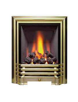 Be Modern Savannah Slimline Inset Gas Fire Brass-Coal - 81086