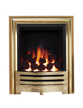 Be Modern Contessa Full Depth Inset Gas Fire Brass - 81507