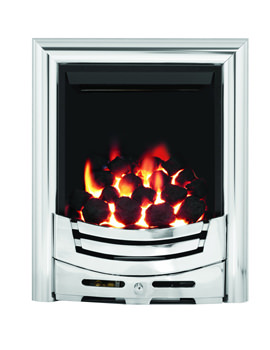 Be Modern Signum Slimline Thermostat Inset Gas Fire Chrome - 55107