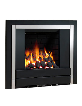 Be Modern Panoramic Slimline Inset Gas Fire Plain Black-Pebble - 32107