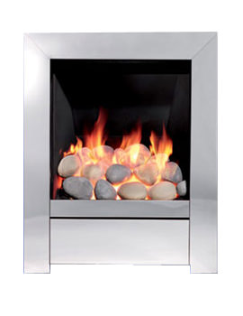 Be Modern Sensation Slimline Inset Gas Fire Chrome - 83534